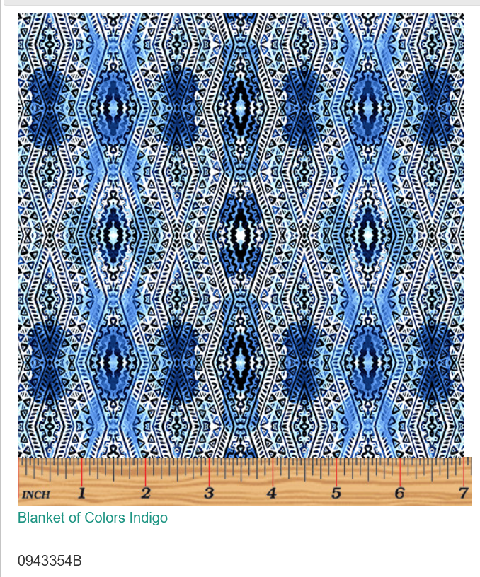 Blanket of colors -Indigo