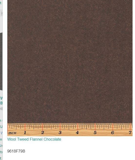 Wool Tweed Flannel Chocolate