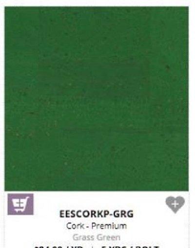 Grass Green cork 18 by 27