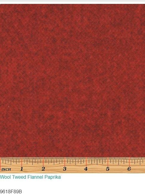 Wool Tweed Flannel Paprika