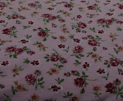 Pink Roses  single Knit Print