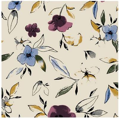Jersey Flowers Cream