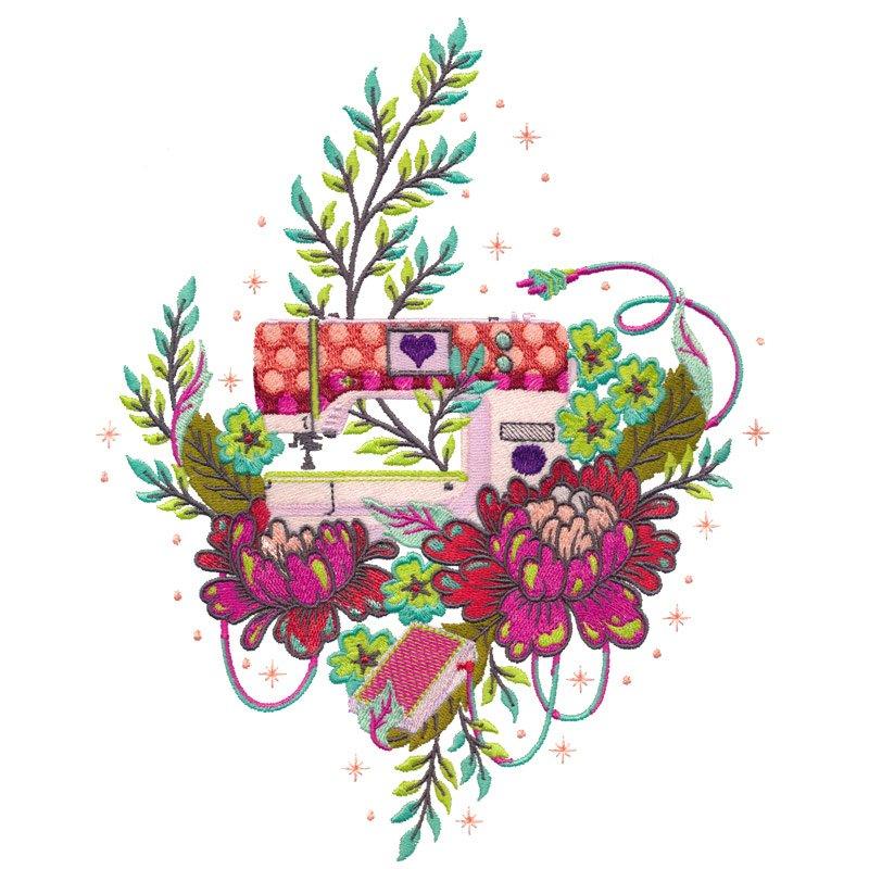 Homemade Machine Embroidery-Tula Pink USB