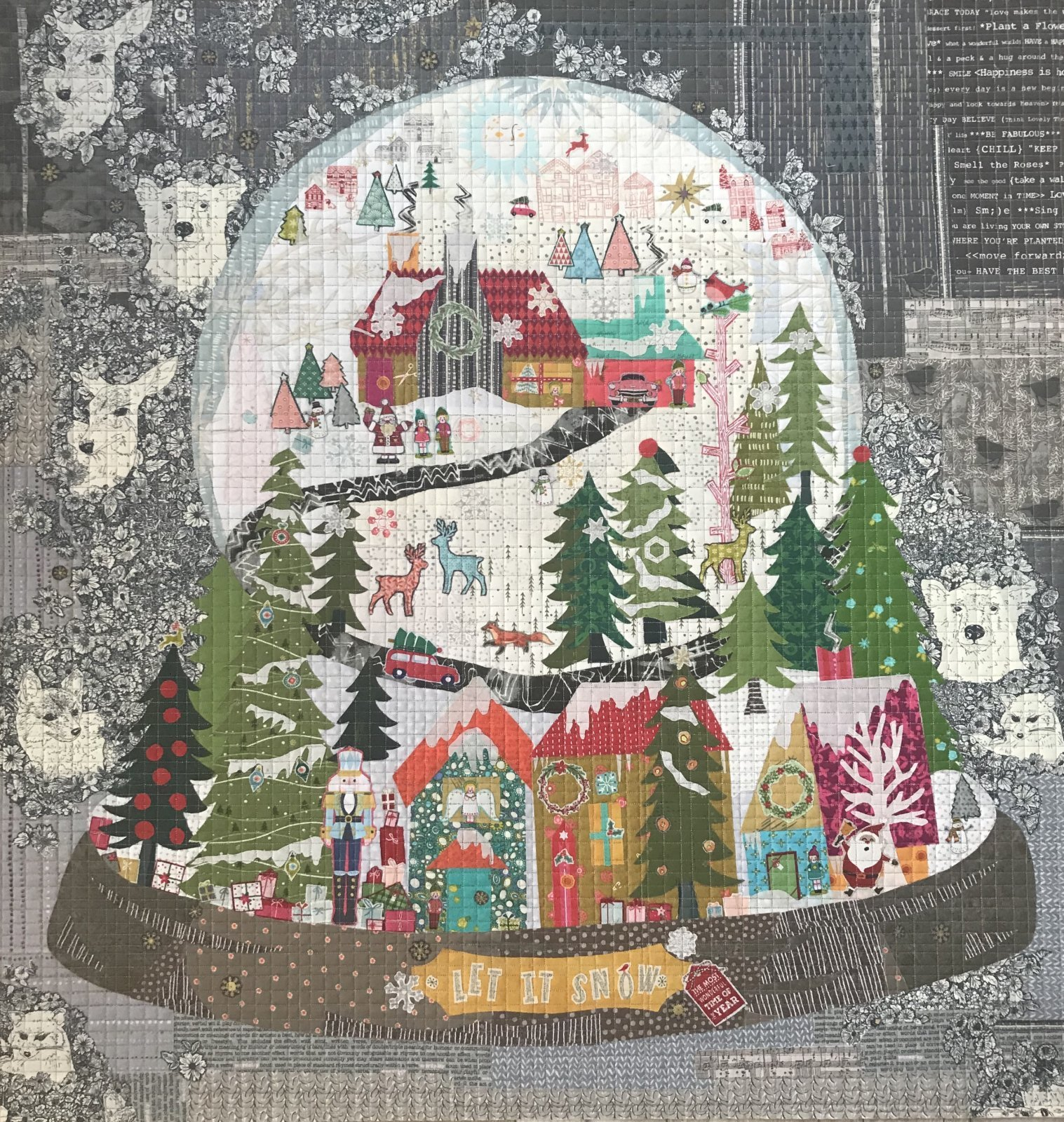 Let It Snow Collage pattern