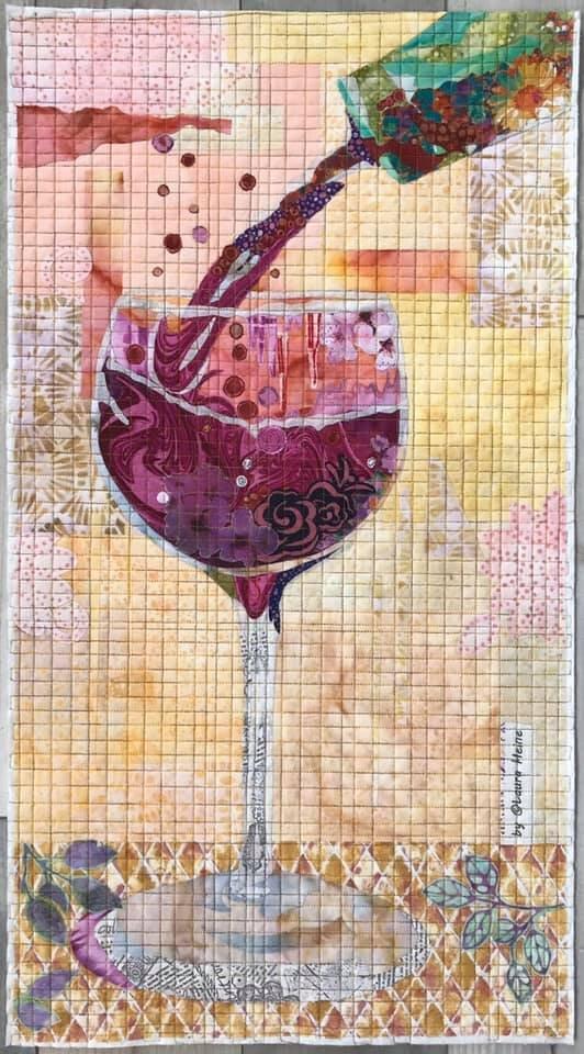 Vino Collage pattern