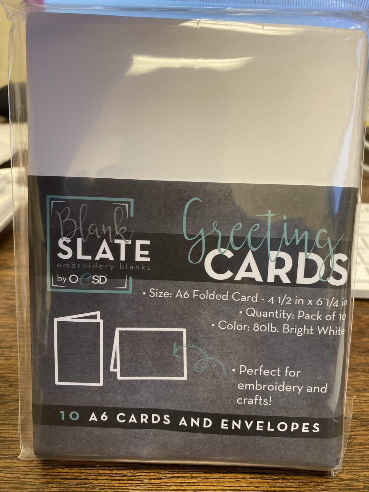 Blank Slate Greeting Cards for Embroidery