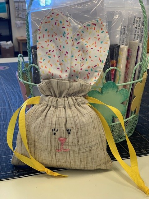 Drawstring Bunny Bag Kit  - Asst Bunny/Ear Colors