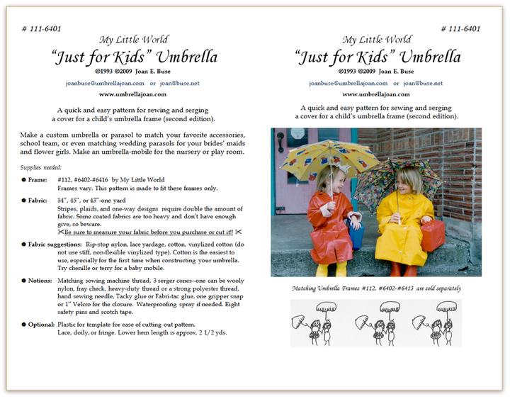 Just for Kids Umbrella pattern