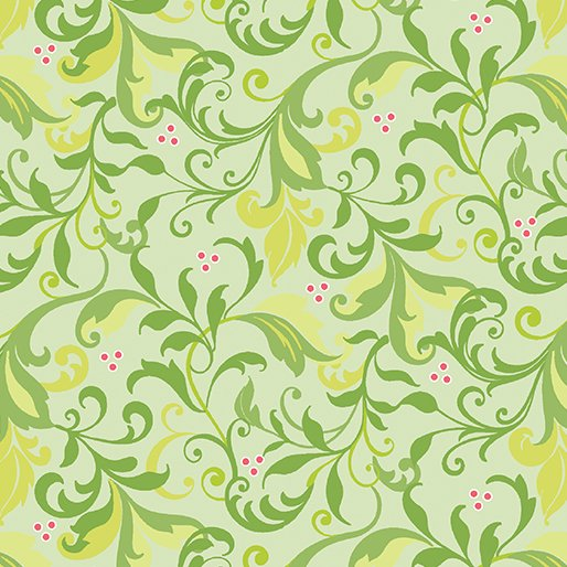 Feathers and Flourishes Flourish Scroll Lime