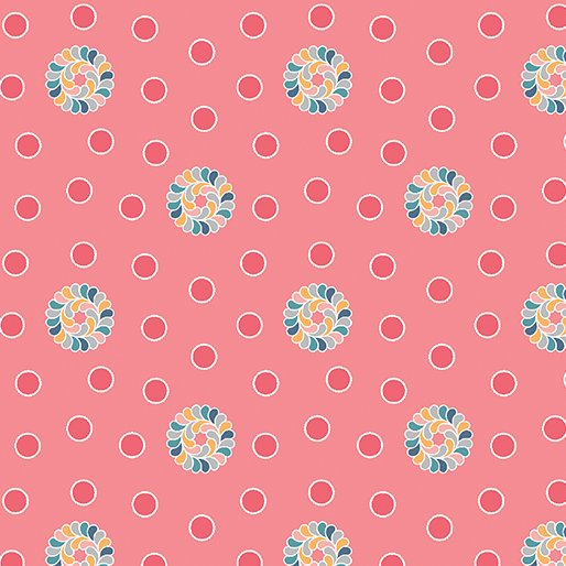 Feathers and Flourishes Flourish Dots Pink