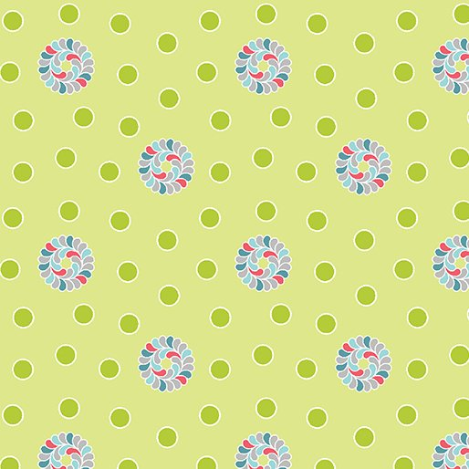Feathers and Flourishes Flourish Dots Lime