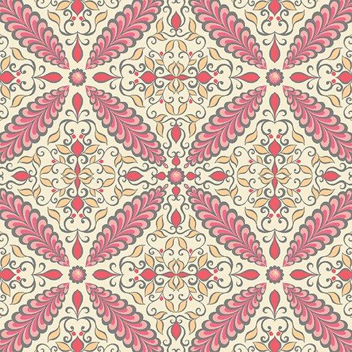 Feathers and Flourishes Flourish Tile Pink