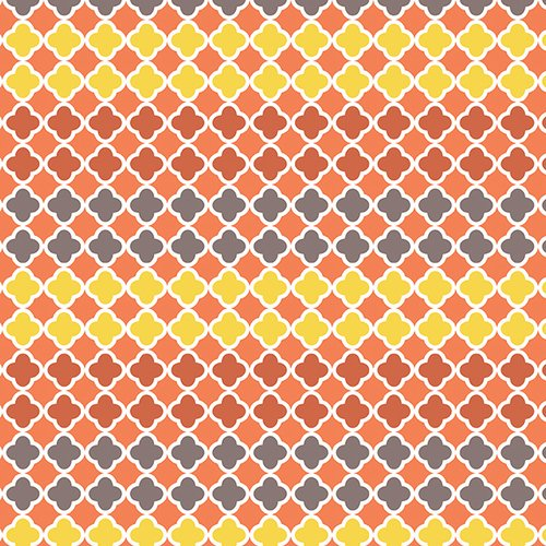 Ain't Life a Hoot - Orange/Grey Mosaic