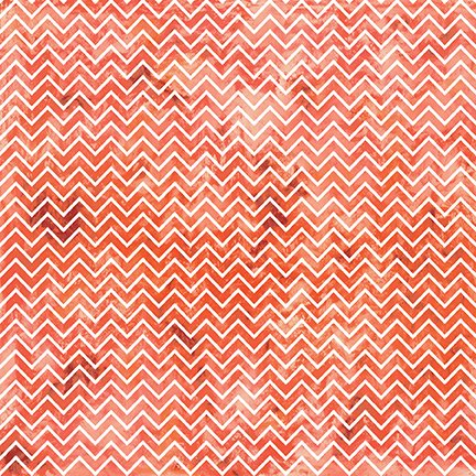 Ain't Life a Hoot - Orange Textured Chevron