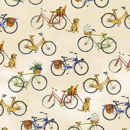 Coastal Paradise - Bicycles Tan