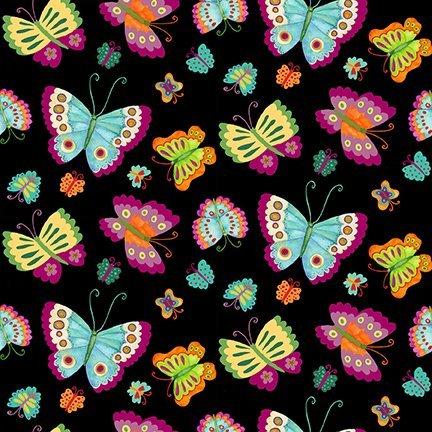 Spring Awakens - Black Butterflies