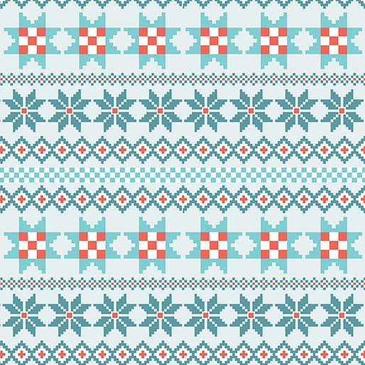 Nordic Holiday Stripe - Teal