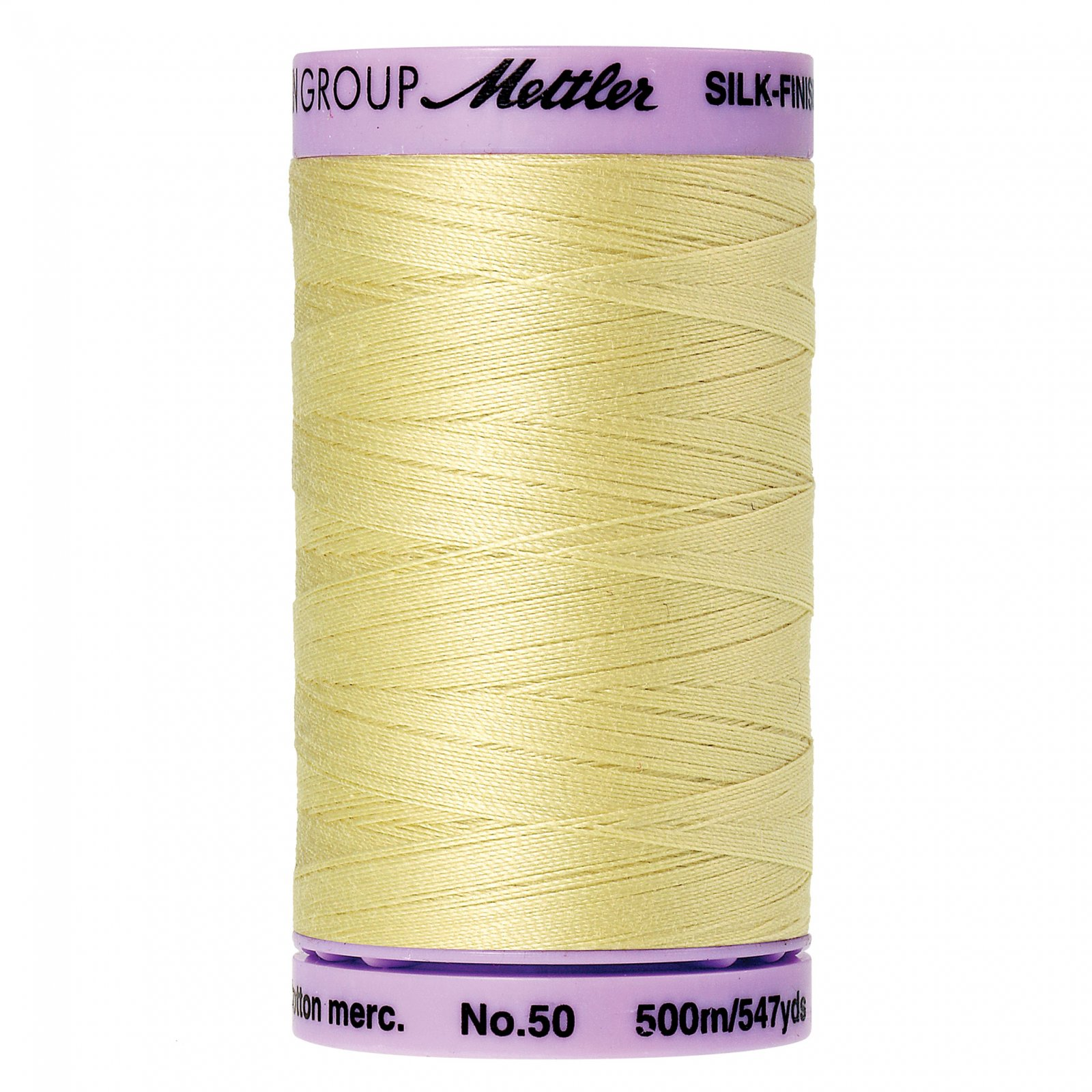 Mettler Silk Finish Cotton - 547yds - 1412 Lemon Frost