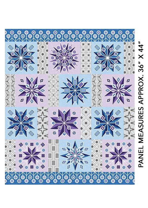 Lollipop Blocks Panel 24- Blue