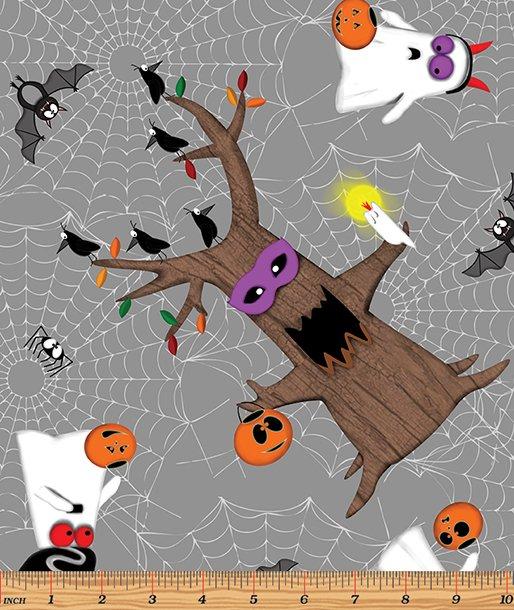 Boooo Ville Spooky Tree - Gray/White