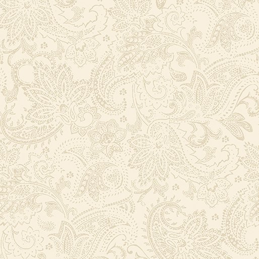 A Festive Season Tonal Paisley - Cream