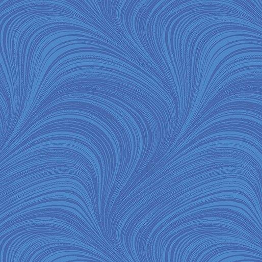 Wide Wave Texture - Medium Blue