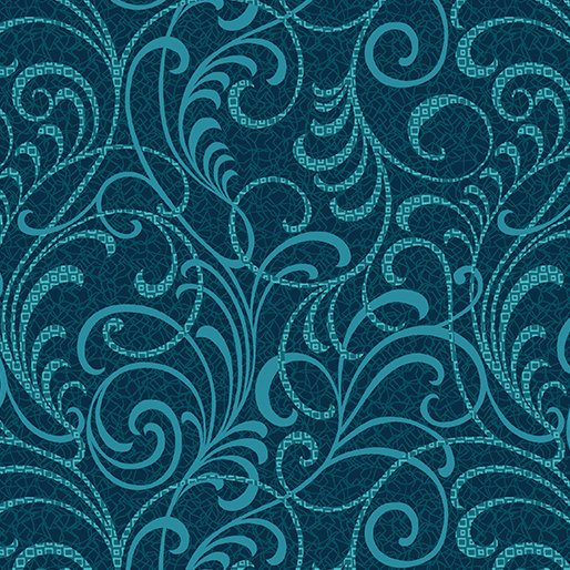Scrolls Squared - Teal