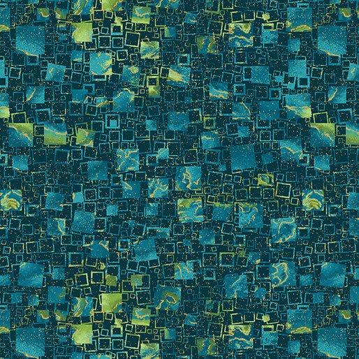 Watercolor Squares - Teal