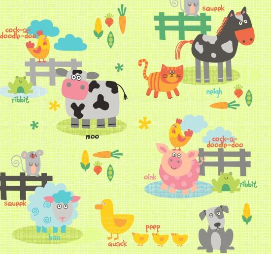 Funny Farm Large Animals Green