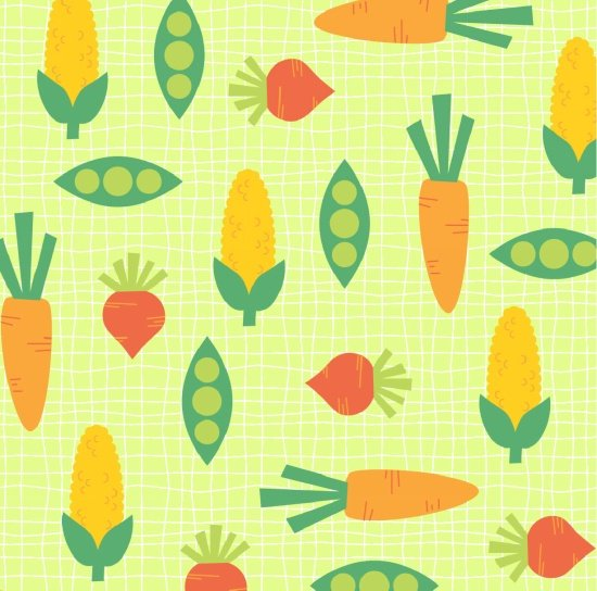 Funny Farm Peas and Carrots Green