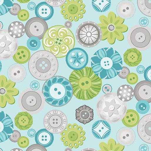 Sewing Room Buttons - aqua