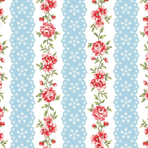 Simply Chic Floral Eye Ribbon - Sky Blue