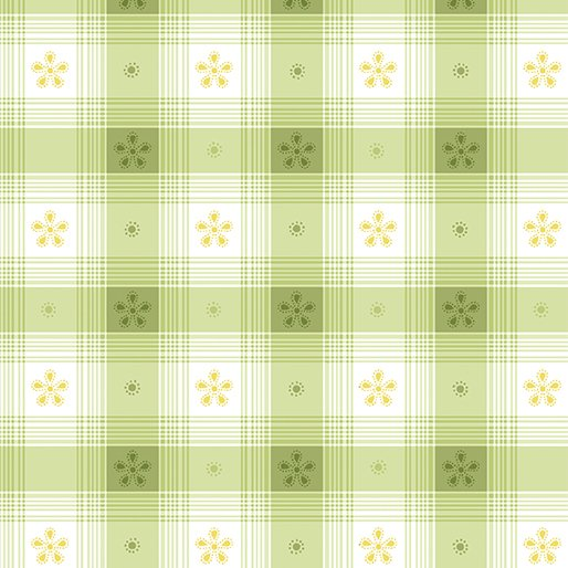 Simply Chic Toile Check - Green