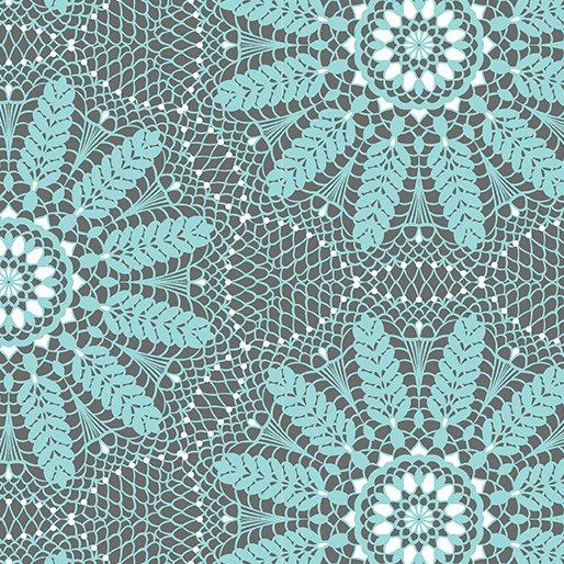 Meadow Dance Crochet Lace - Aqua