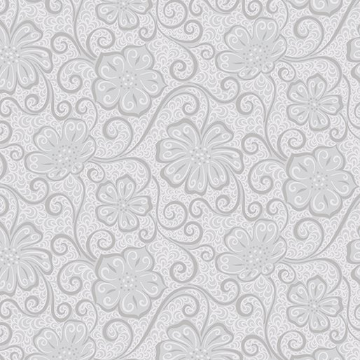 Meadow Dance Floral Blender - Light Grey