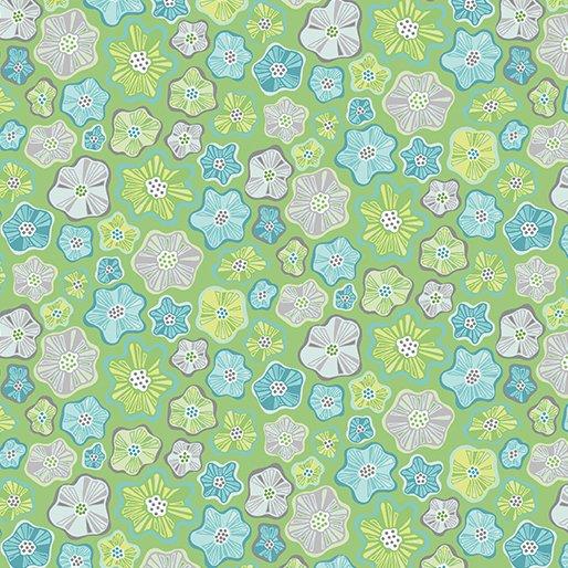 Meadow Dance Little Flowers - Green