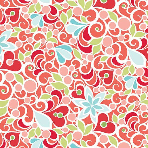 Christmas Magic - Floral Red
