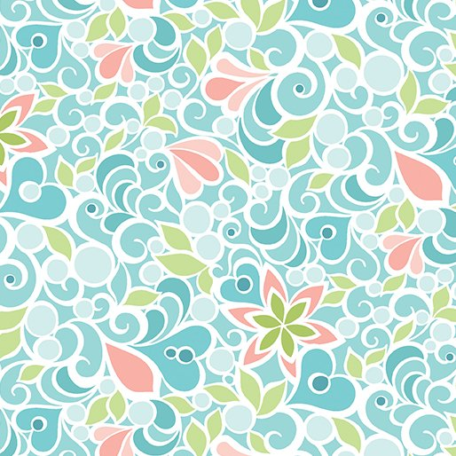 Christmas Magic - Floral Teal