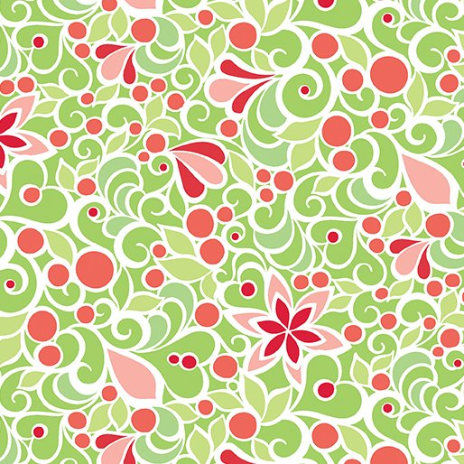 Christmas Magic - Floral Green