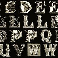 Letter Stitch Black Letters