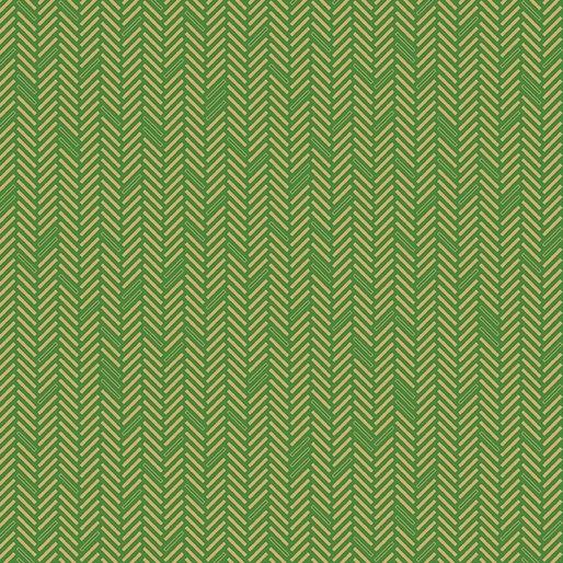 Jubilee Holiday Herringbone Green