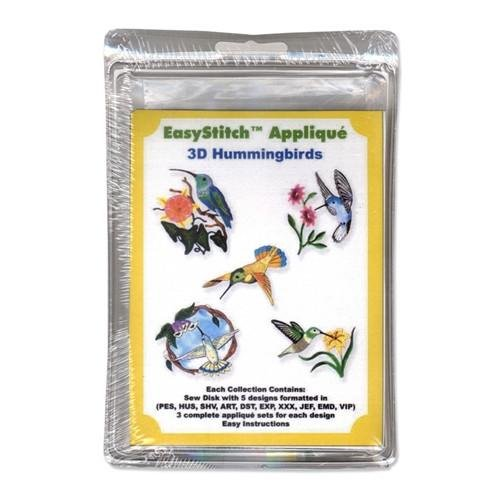 Easy Stitch Applique - 3D Hummingbirds