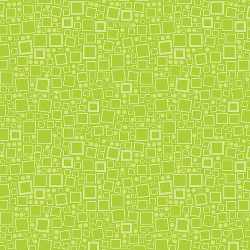 Anything Goes Squares & Dots - Lime