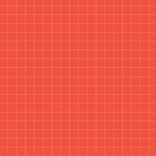 Warp & Weft Windowpane Orange/Red