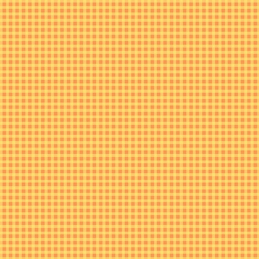 Warp & Weft Mini Gingham Orange