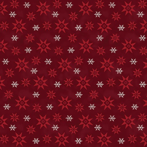 A Quilter's Christmas - Winter Snowflake Dark Blue