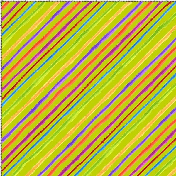 Quirky Bias Stripe Lime