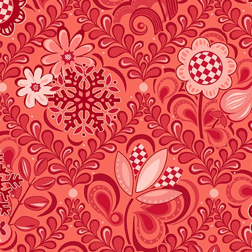First Frost - Damask Red