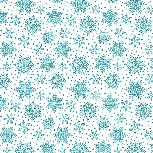 Hearty The Snowman - Snowflakes White/Turquoise