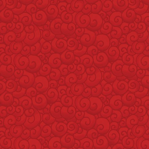 A Quilter's Christmas - Swirls Scarlet